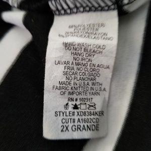 Maitai black and ivory stripe dress Size 2XL